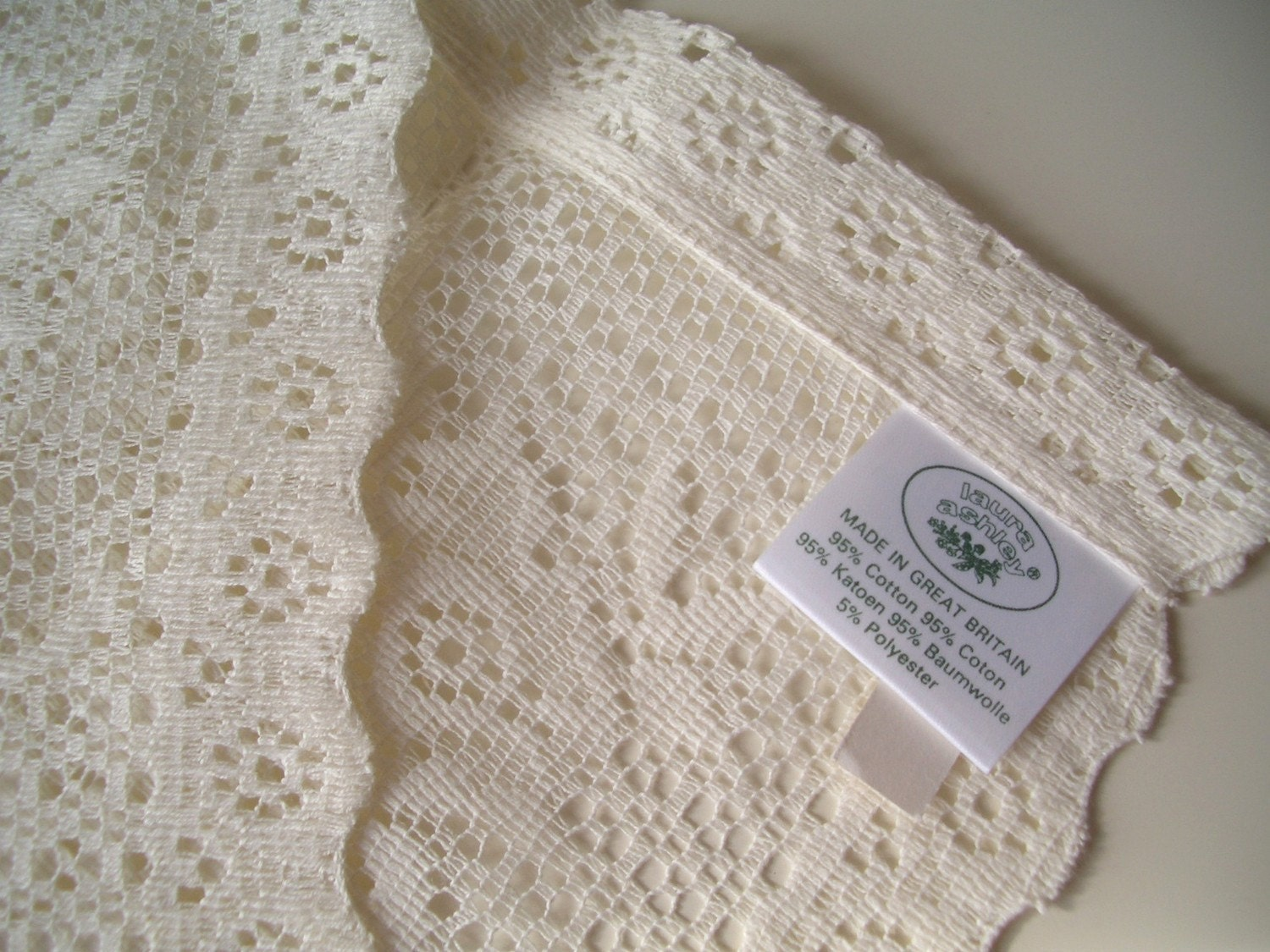 Vintage Laura Ashley Nottingham Lace Napkins