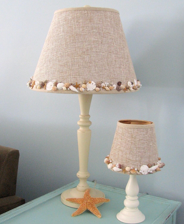 Home Design Lamp Shades Seashell Lamp Artisan Embellished
