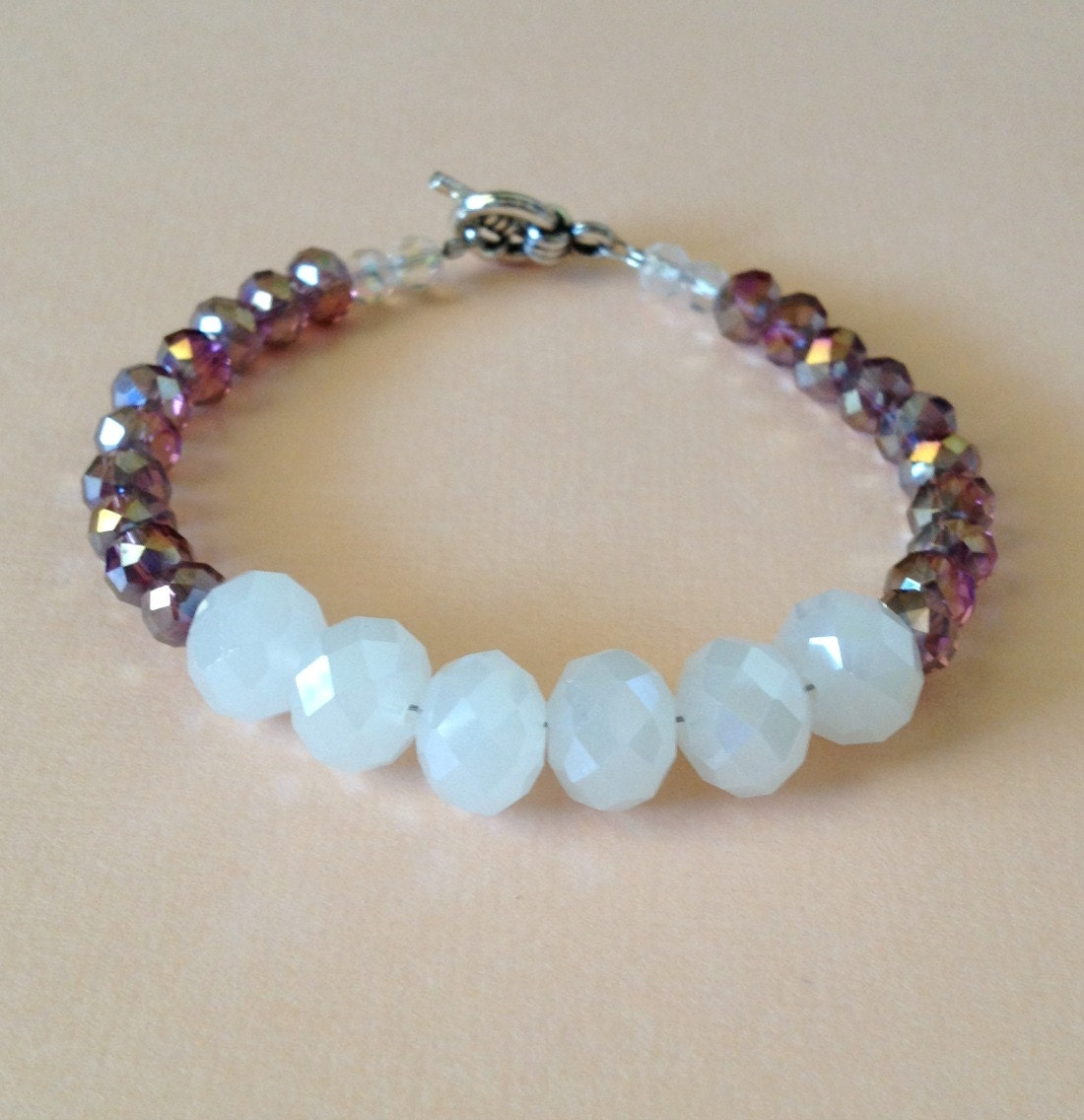 adoption fundraiser purple and white bracelet by