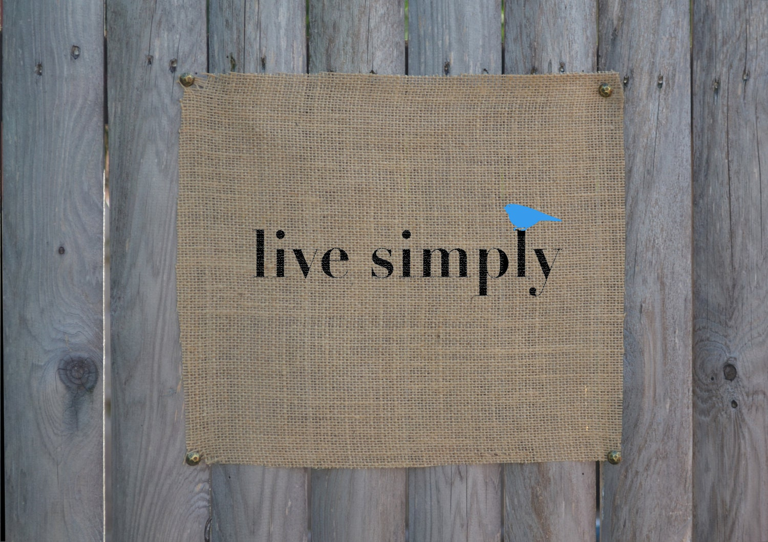 Live simply unframed wall art burlap art print on by for Live simply wall art