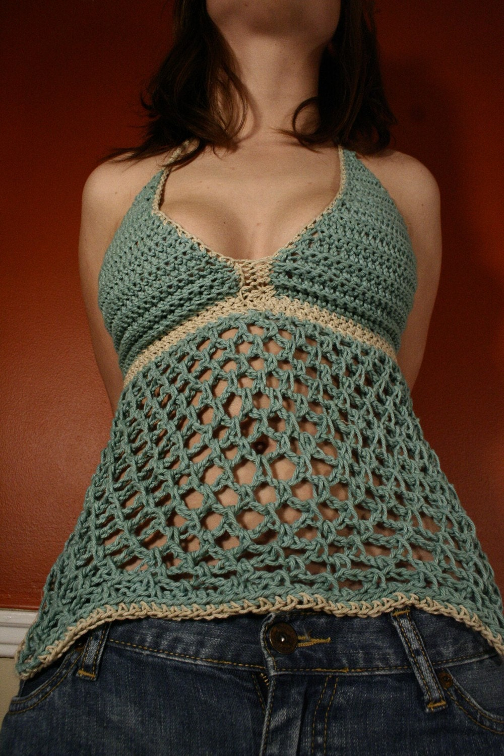 Art of Crochet by Teresa - Crochet Bikini Top - Triangle Shape