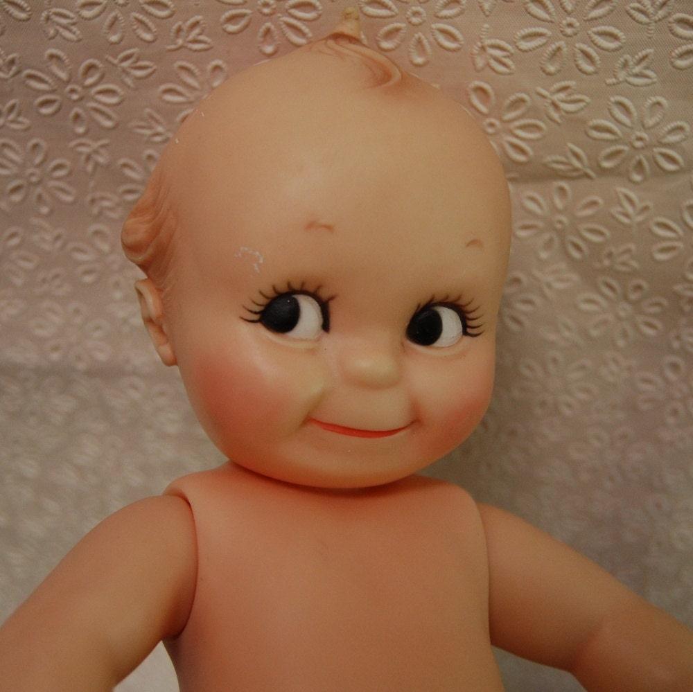 Vintage 1960s 70s Cameo Kewpie Doll Jointed Squeaker 11.5 - feralia