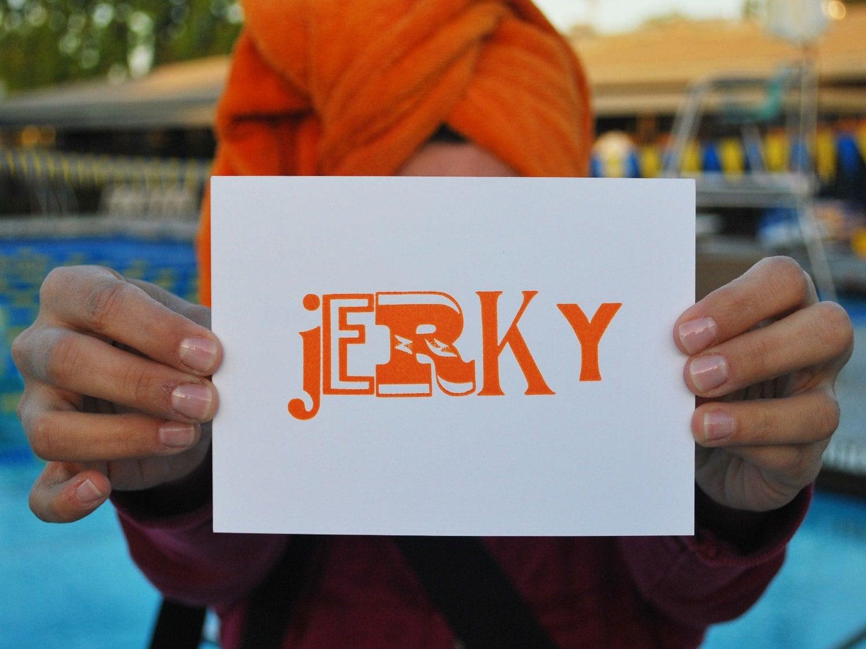 Jerky - Letterpress Postcard