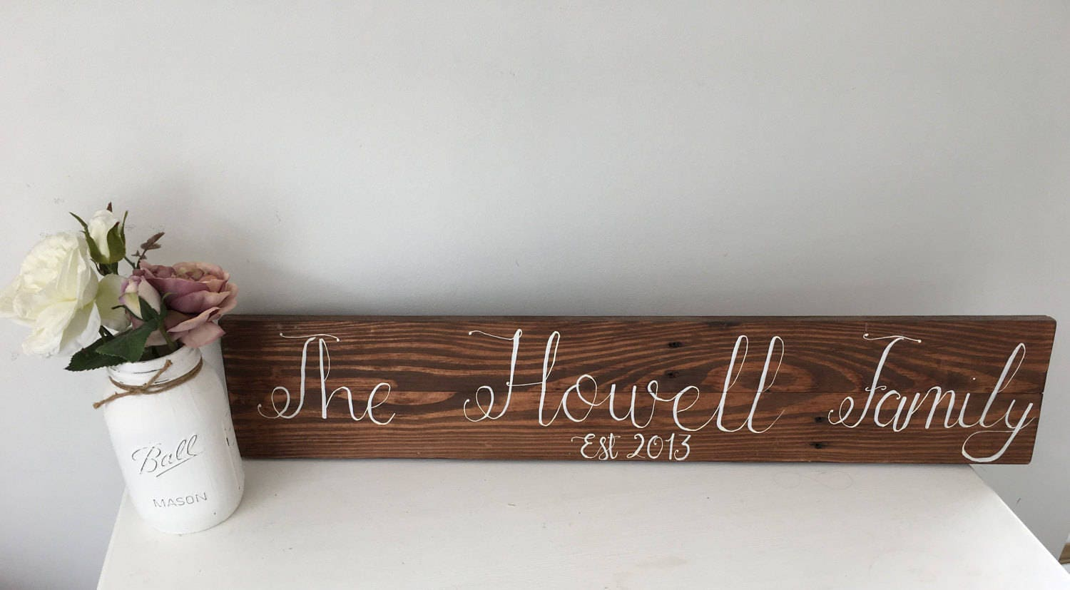 Family Name Sign  Personalised Family Name Sign  Rustic Family Sign  Personalised Wedding Gift