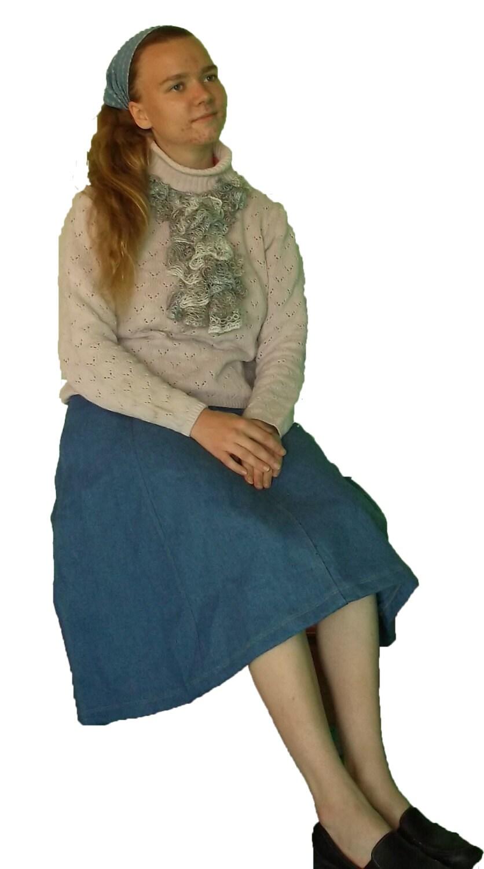 items similar to misses gored denim skirt on etsy