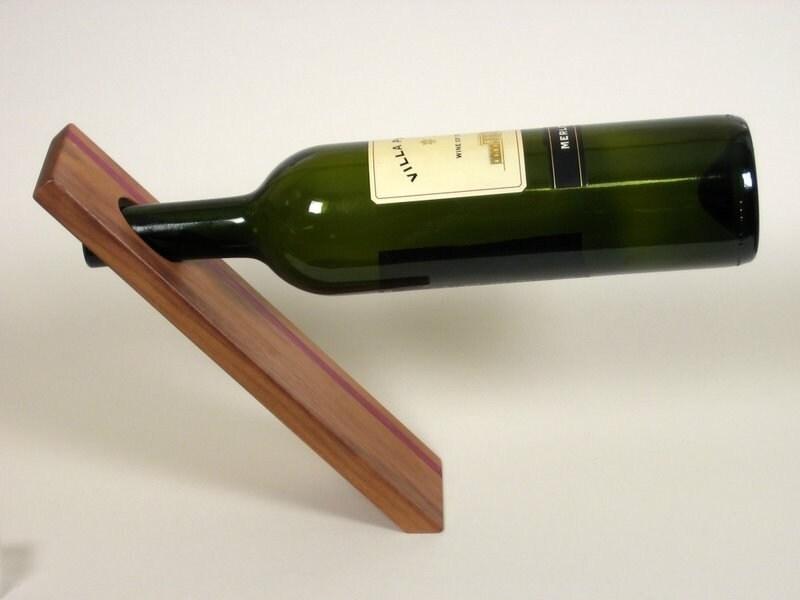 Mind bending wine bottle holders design trend report 2modern - Wine bottle balancer plans ...