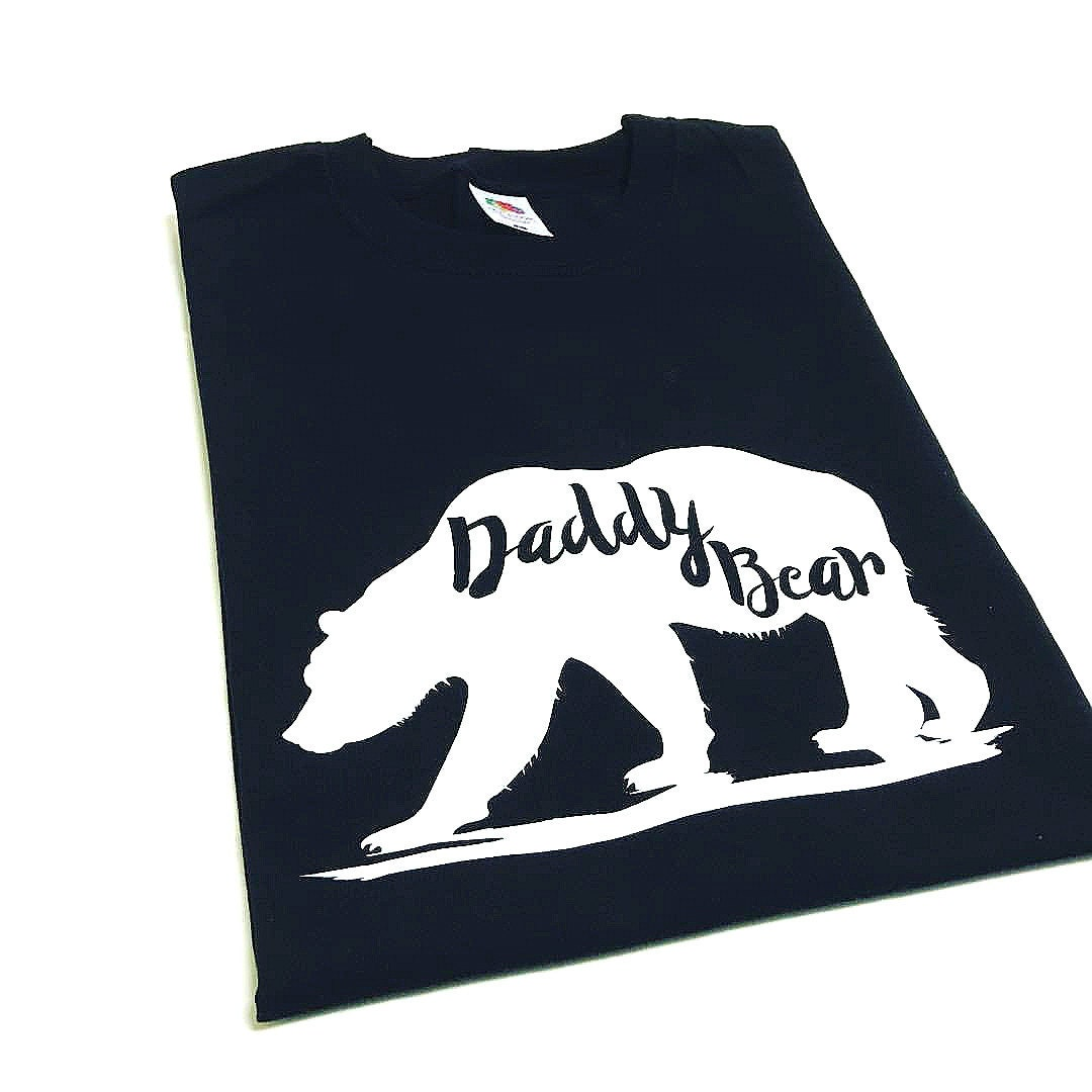 Daddy Bear TShirt Daddy Bear Top Fathers Day Gift Mens Tops Gifts For Men Dad Son Dad Daughter Baby Shower Gift First Christmas