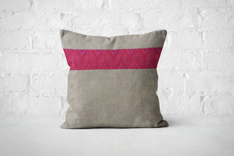 Linen Pillow Boho house dcor Geometric ikat pillow Accent couch pillow Best Bed Pillow Dorm room decor 2017 trend Bright cushion