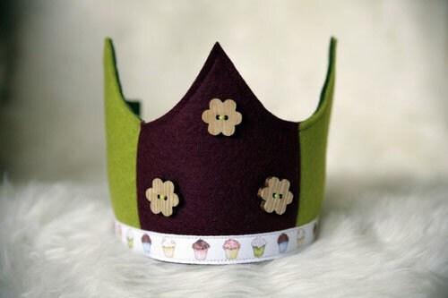 Wool Felt Crown - Cupcakes