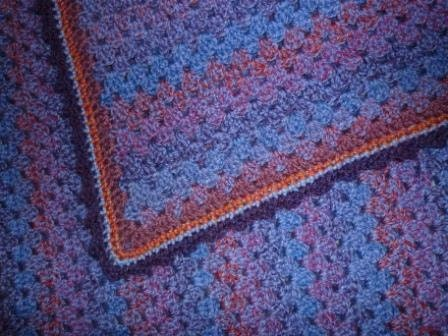 Items similar to Crocheted Lap Blanket in Granny Pattern ...