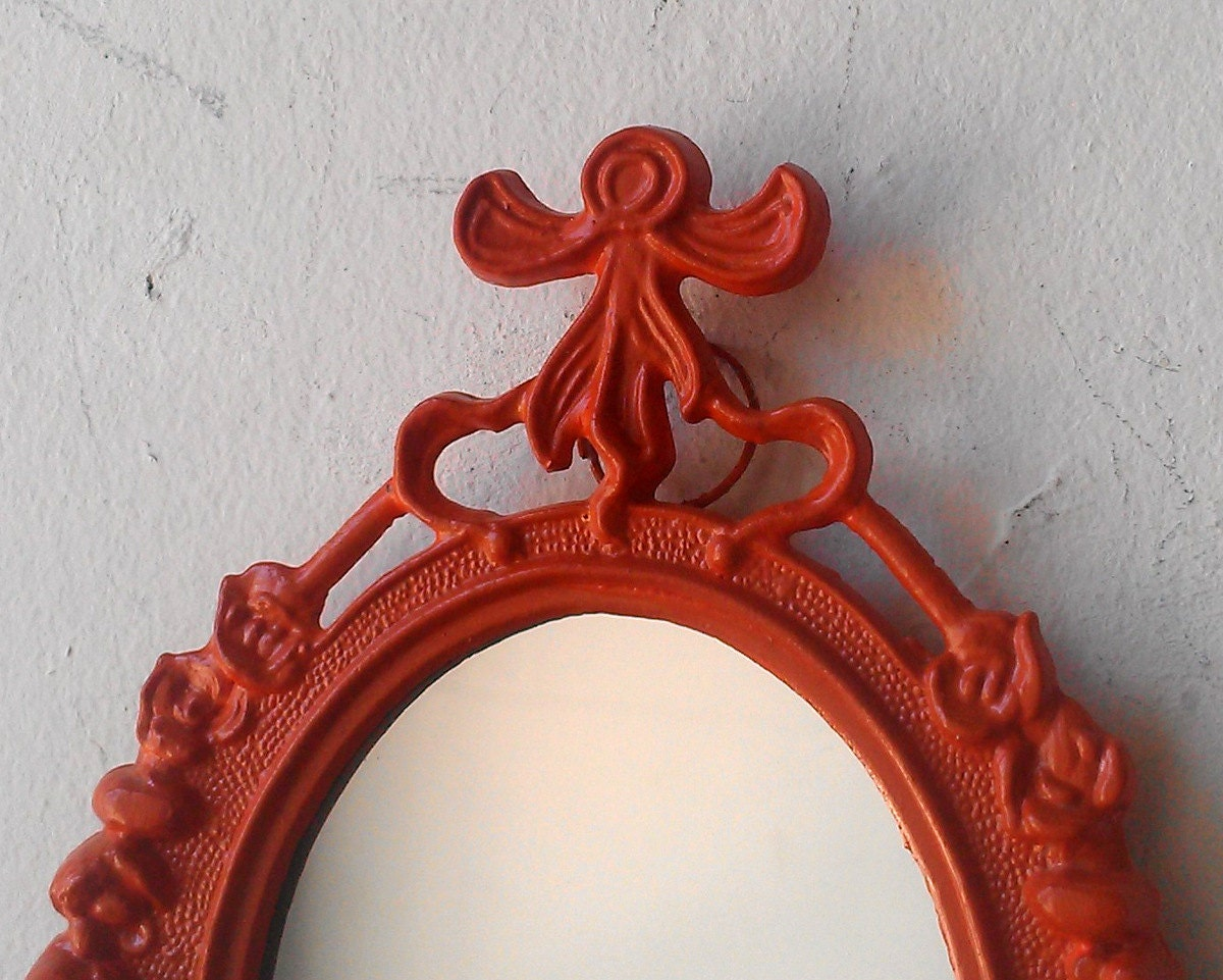 Decorative Frame or Mirror in Burnt Orange - SecretWindowMirrors