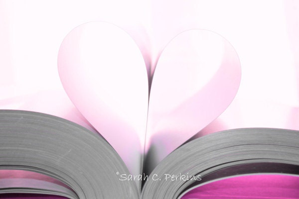 Hot Pink Heart Fine Art Photography ACEO wedding gift holiday love folded card blank inside - SCPerkinsPhotography
