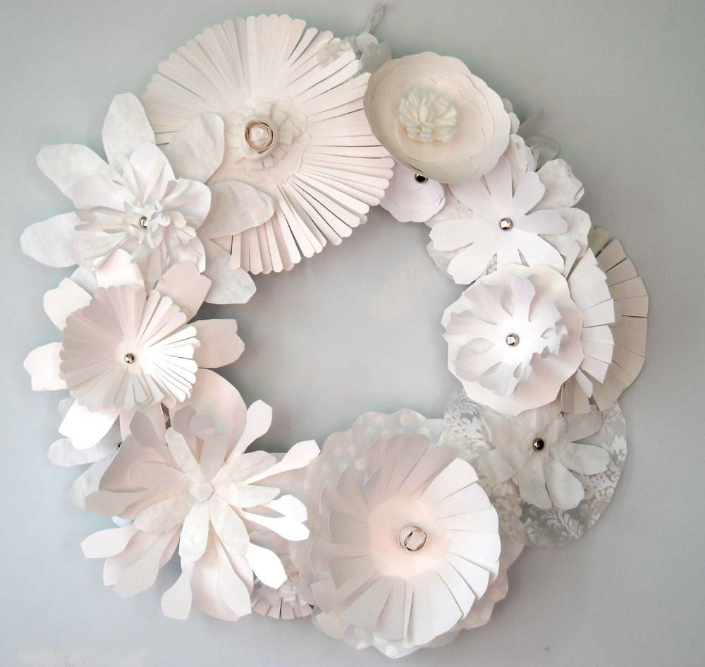 Paper Floral Wreath-Winter Wonderland
