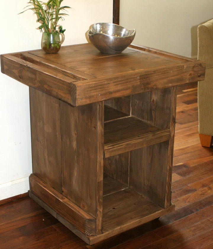 Small Kitchen Island Small Industrial Reclaimed By Modernrust