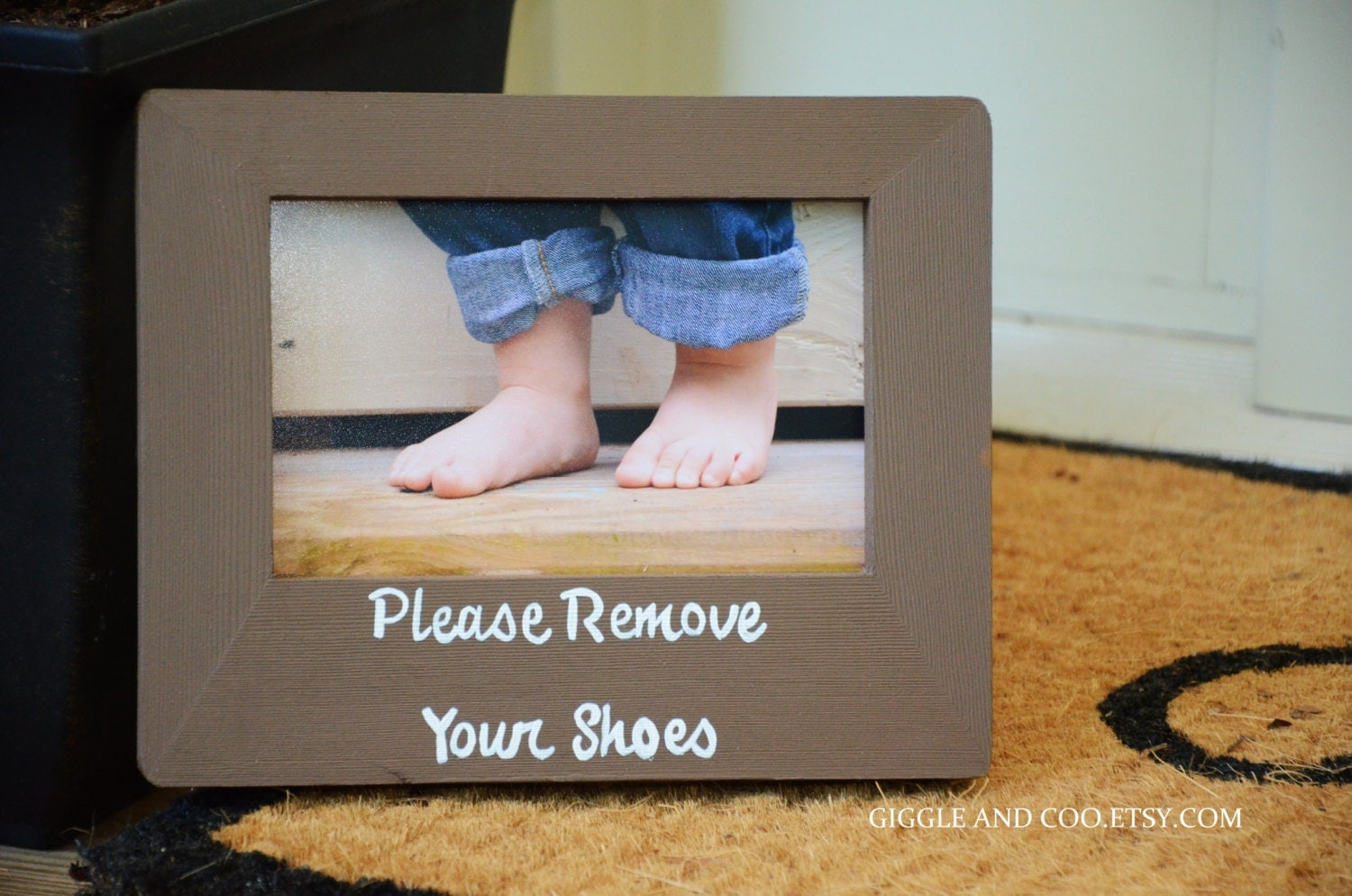 Items Similar To Please Remove Your Shoes Door Sign On Etsy