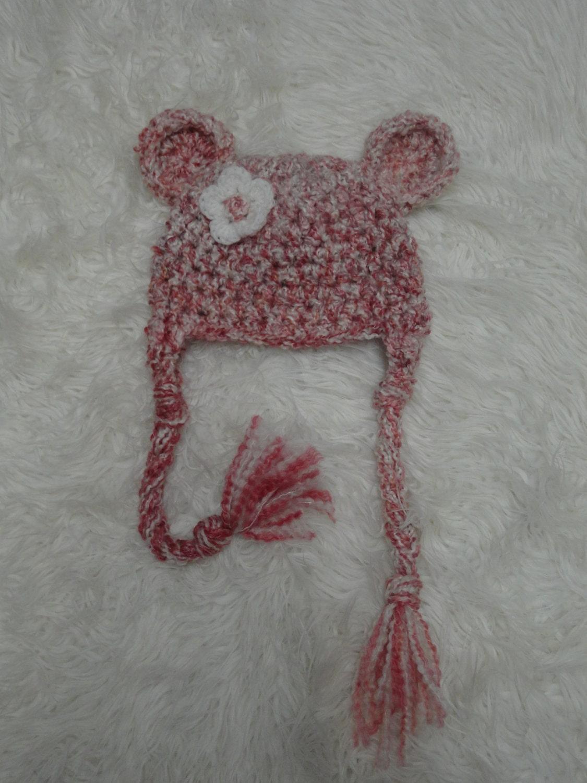 Parfait Pink Teddy Earflap Beanie