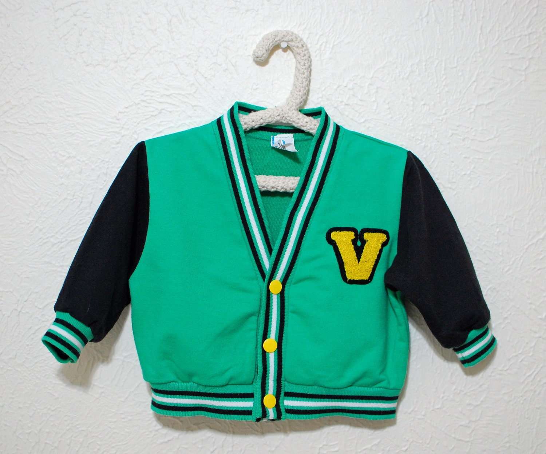 Varsity letter sweater, vintage boys 18 months - dahliadaffodil