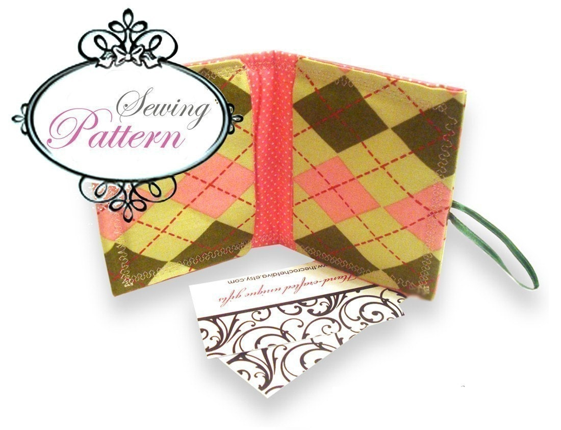STYLISH BUSINESS CARD WALLET ((PDF Sewing Pattern))