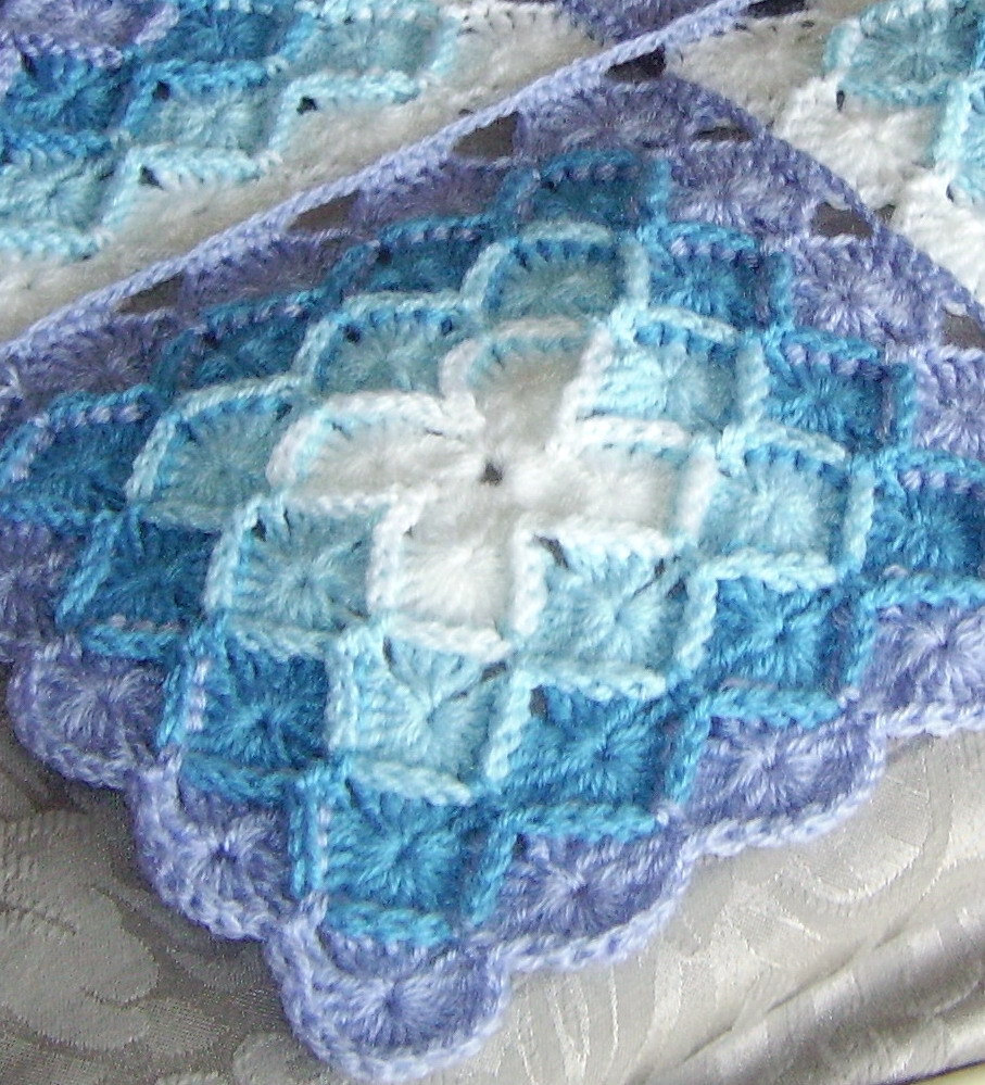 Crocheted Afghan by JennyBrownPatterns on Etsy