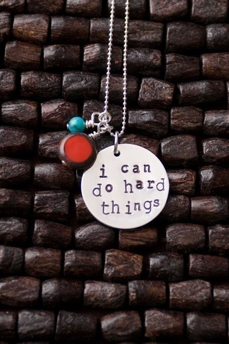 I Can Do Hard Things Necklace by therhouse on Etsy