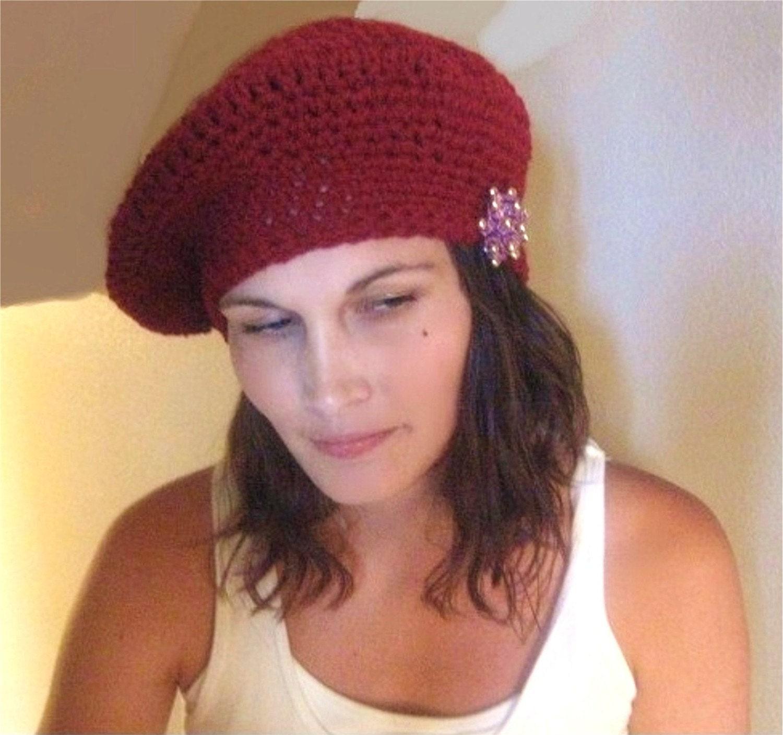 Crochet Beret Hat Pattern Easy : EaSY Crochet Pattern Lots of Looks 1 Hat Beret by Shenanagans