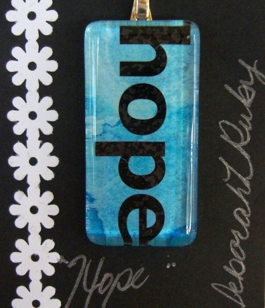 Jewerly Watercolor HOPE Pendant