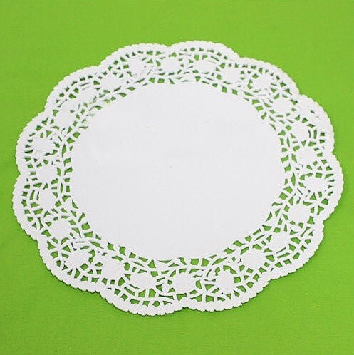 6.5 inch Rose Flower Paper Doily - set of 30