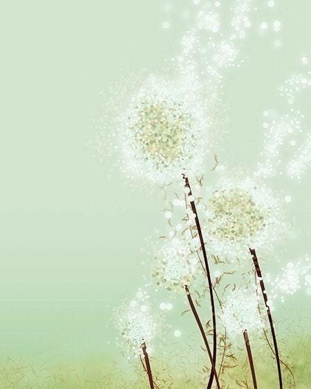 Perennial Moment (tea green) - 8x10 Print
