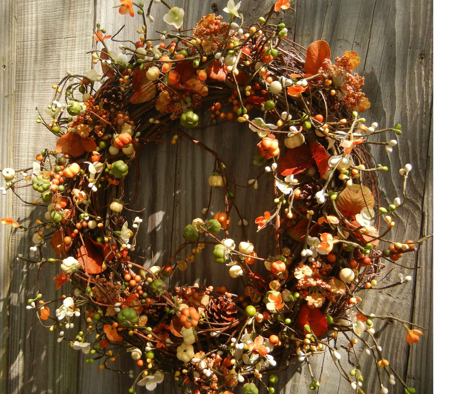 Fall Berry Harvest Wreath