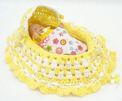 Crochet Pattern Doll Bassinet Purse : Crochet Doll Bassinet Purse How To Crochet