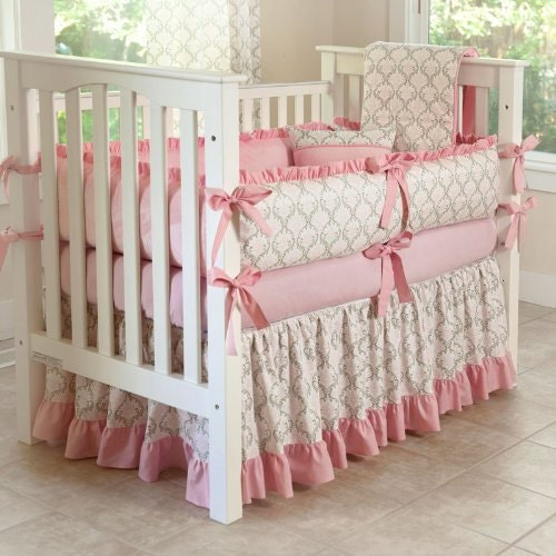Crib bedding baby girl bedding set design your own by kokaloka for Design my own bed set