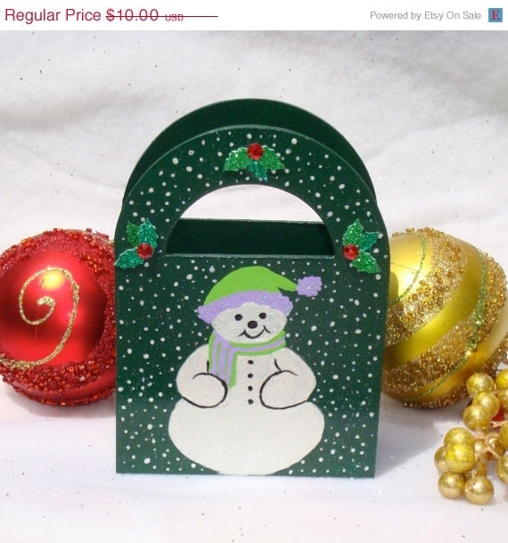 Jolly Snowman Holiday Gift Bag/ Ornament/ Decoration/ Keepsake