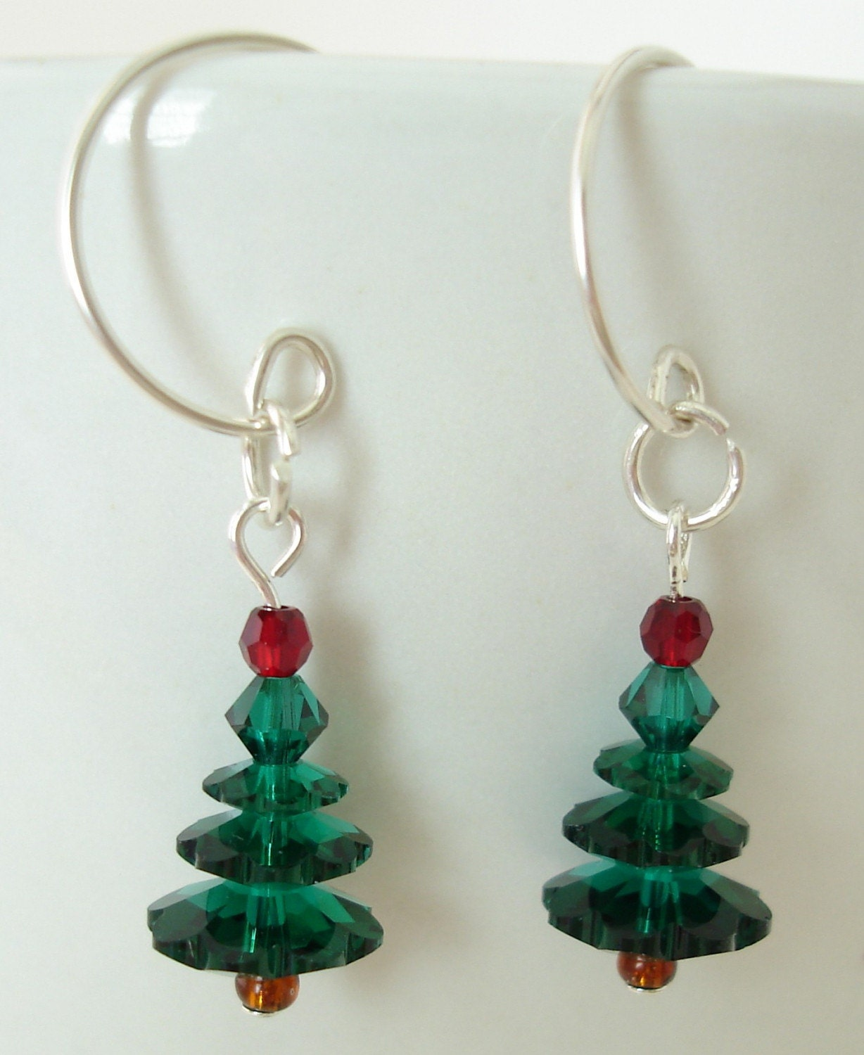 LIMITED EDITION - Swarovski and Sterling Christmas Tree earrings