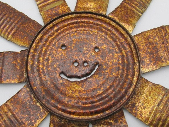 smiley sun face. Tin Can Smiley Sun Face