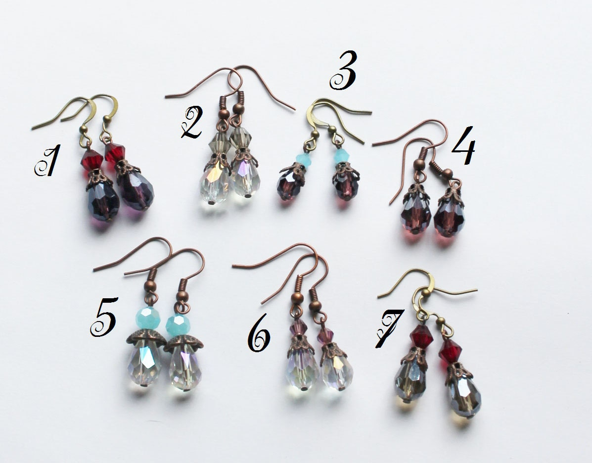 Swarovski Crystals dangle earrings