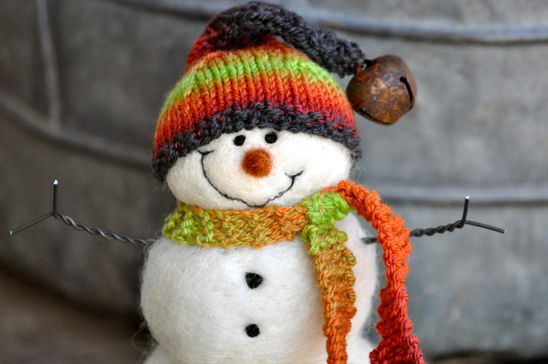 Snowman, Needle Felted Christmas Snowmen