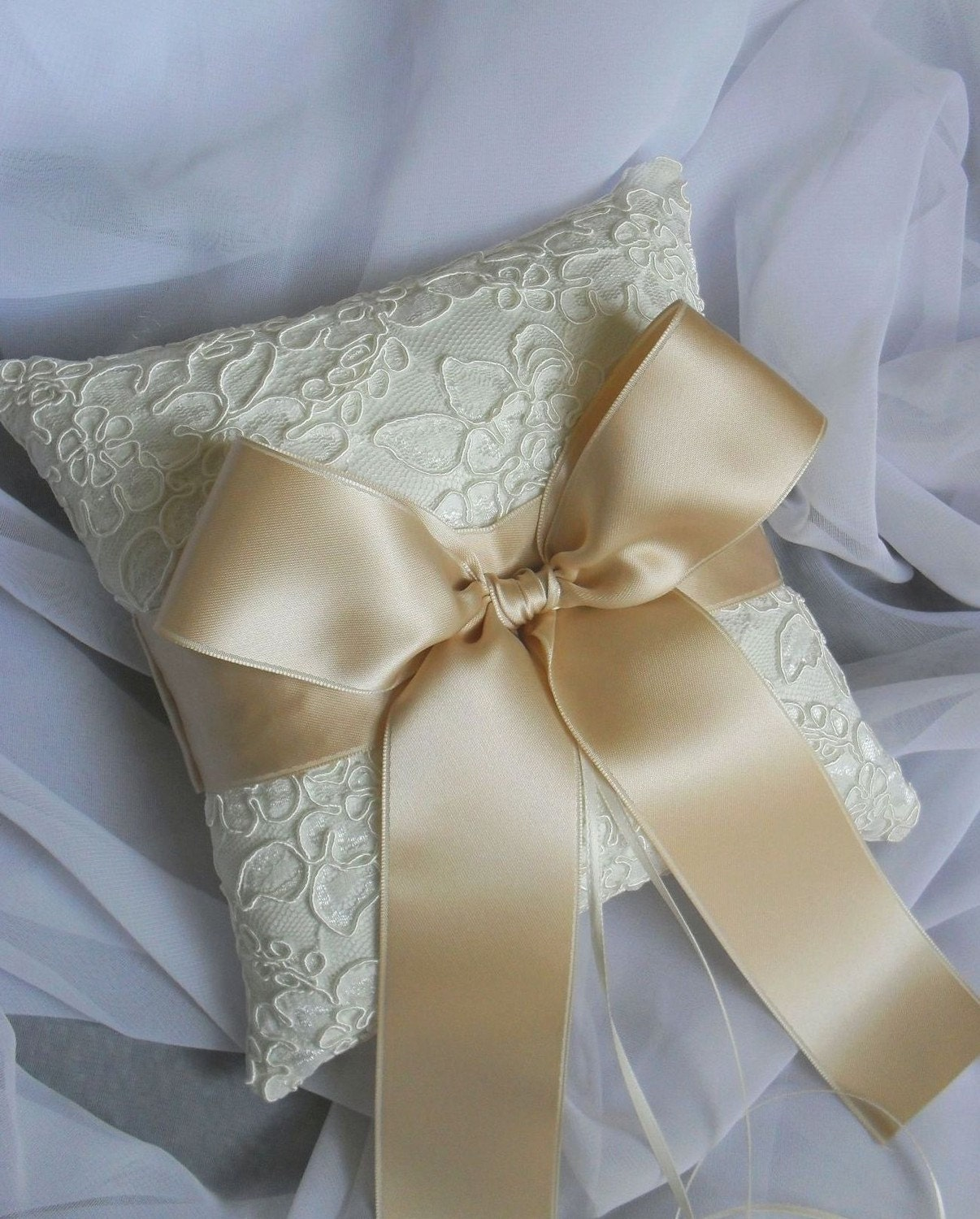 Inspirational ring pillow and guestbook photo 2