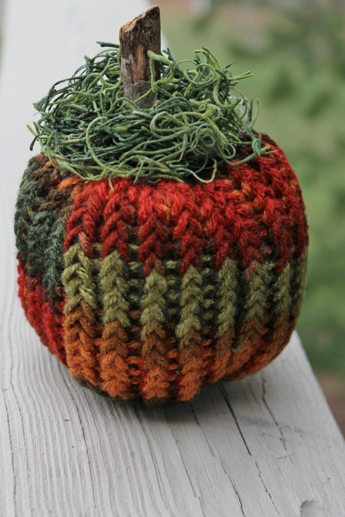 Knitted Rustic Pumpkin Fall Home Decoration Home & Living Made to Order - Stitchcrafts