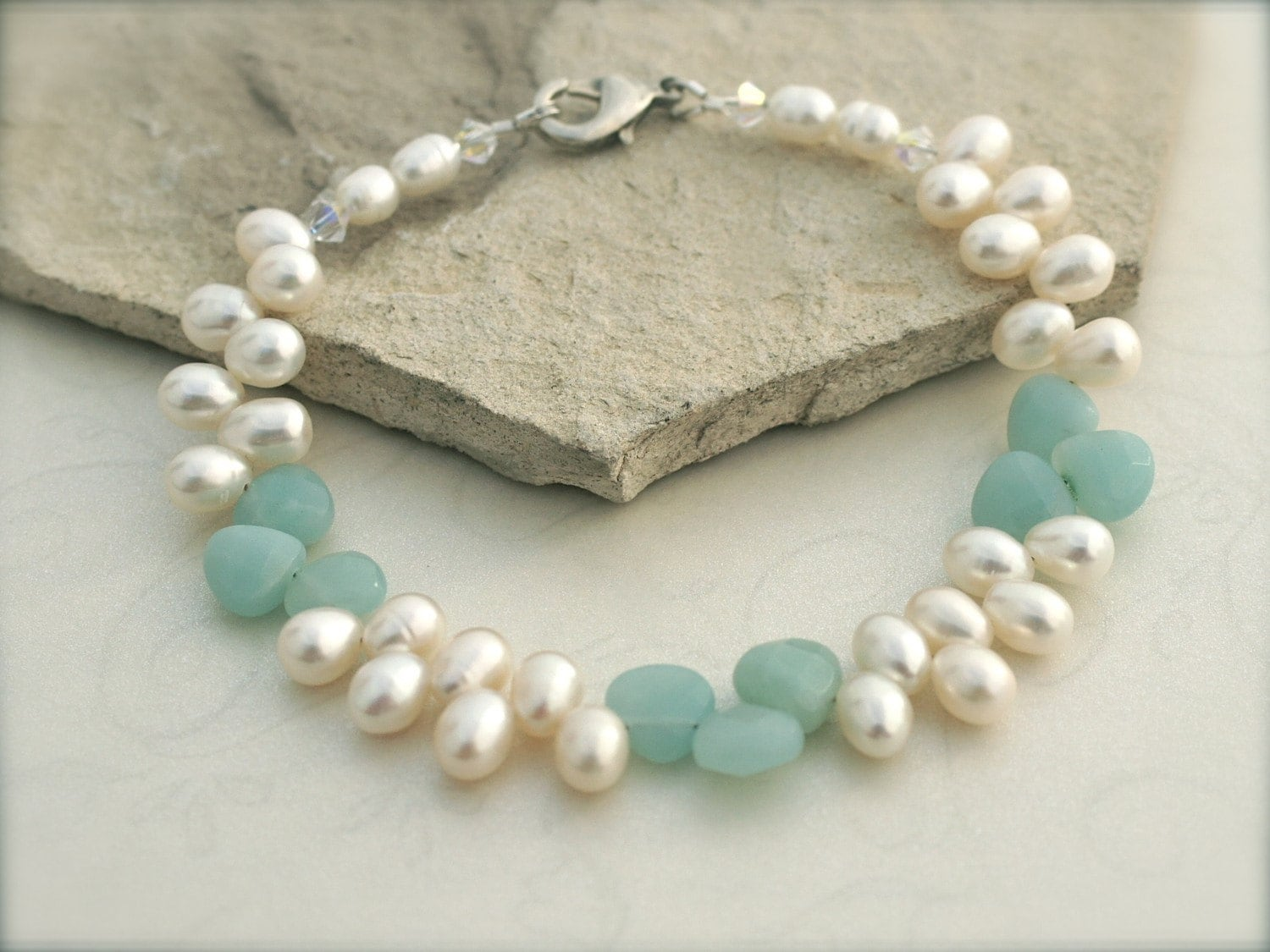 Mint Broilette Bridal Anklet