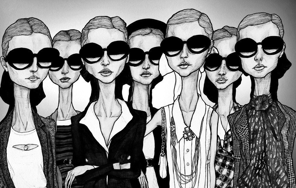 The Girls In Glasses 13 X 19 Print
