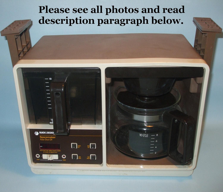 Black And Decker Spacemaker Coffee Maker Parts : Black & Decker Spacemaker Under-the-Cupboard Coffee Maker - Vintage Brown SDC 3A FotoFuze