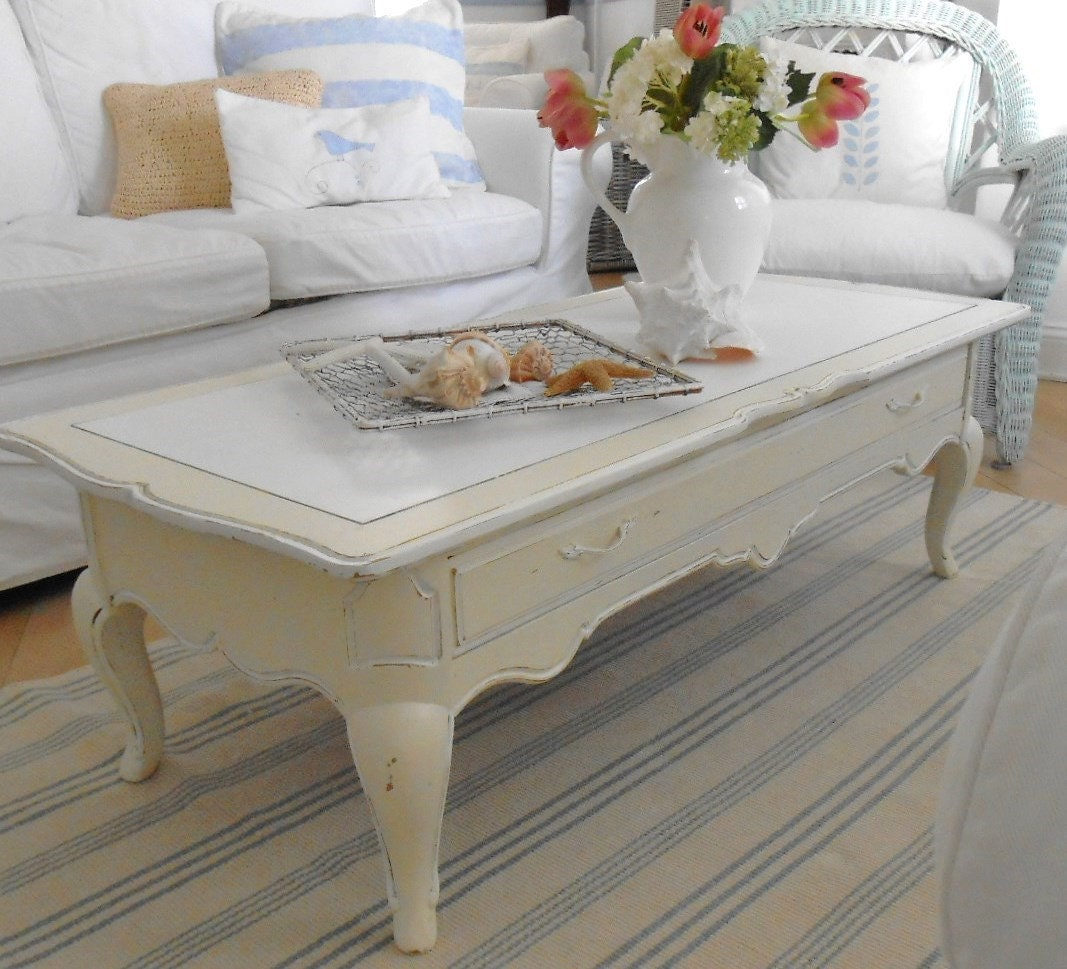 RESERVED FOR CHRISANN coffee table shabby chic by backporchco