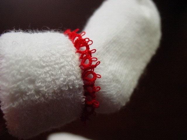 Tatting Trimmed Infant Socks
