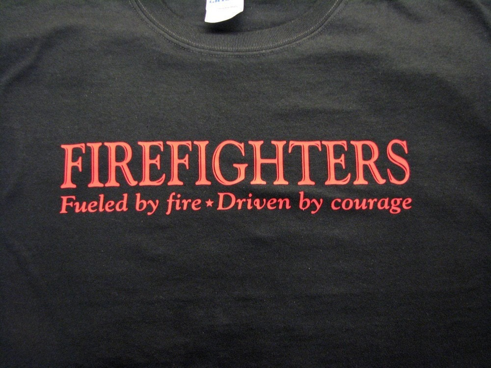 CUSTOM Firefighter or YOUR own DESIGN Tee T-shirt Gift for Fireman Dad Father Mother Friend Coworker