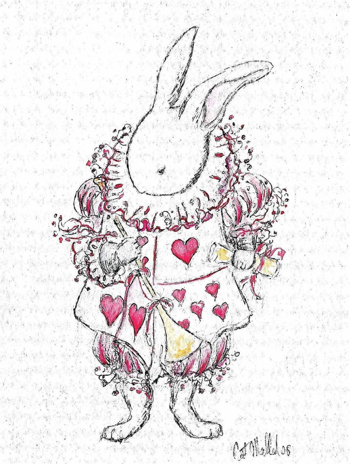 White Rabbit ACEO Limited Edition Print