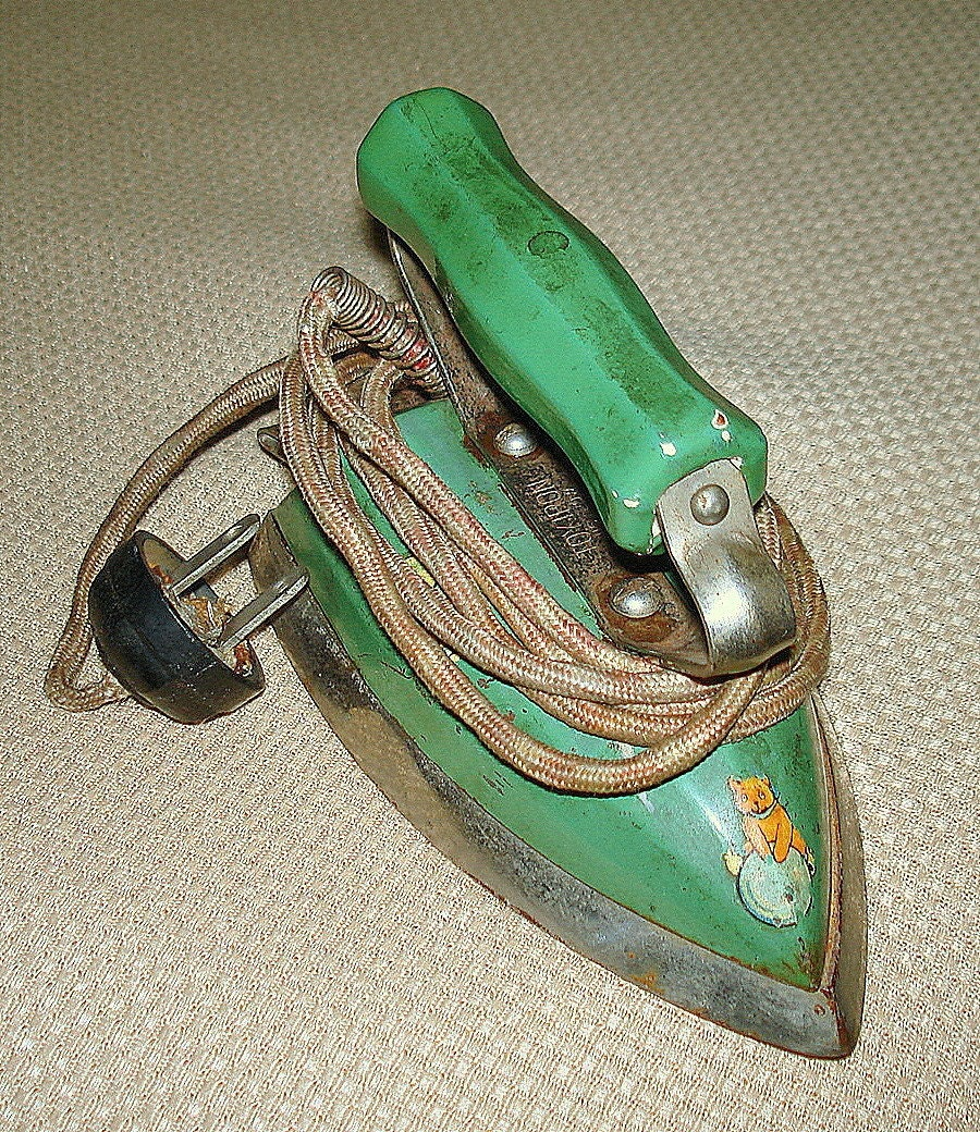 Antique Child's Electric Iron, Samson-United Co, 60 plus Years Old