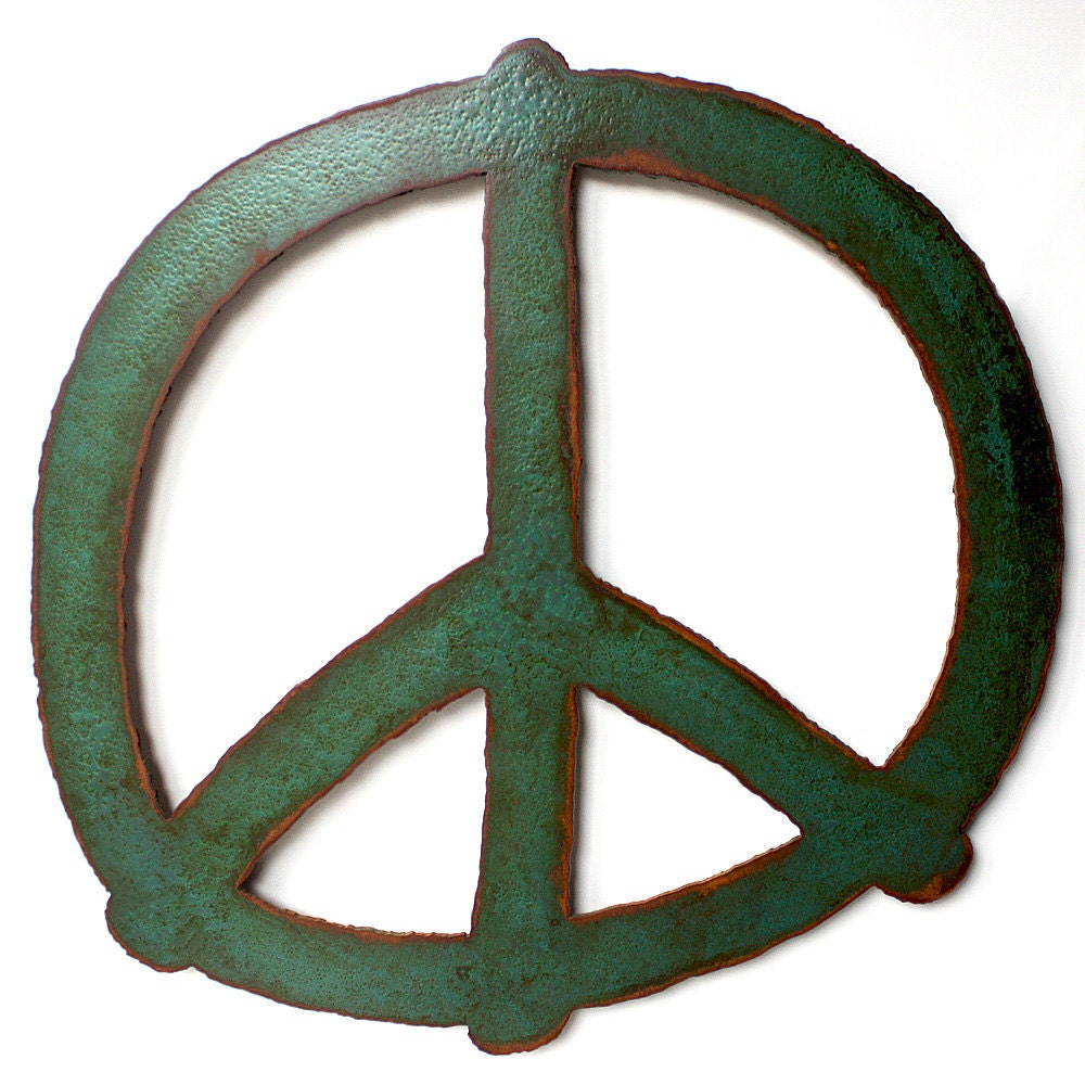 Peace Sign Wall Decor Metal : Peace symbol wall art by functionalsculpture
