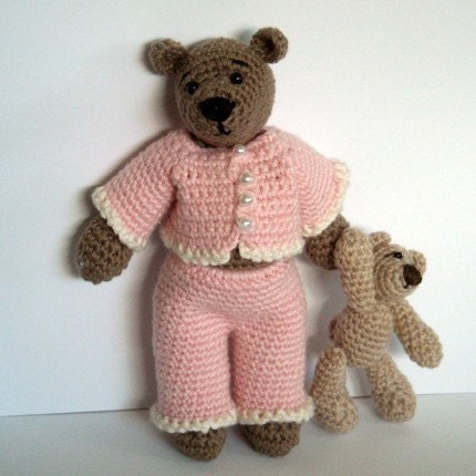 Free Crochet Patterns For Teddy Bear Sweaters :  FREE CROCHETED TEDDY BEAR CLOTHES