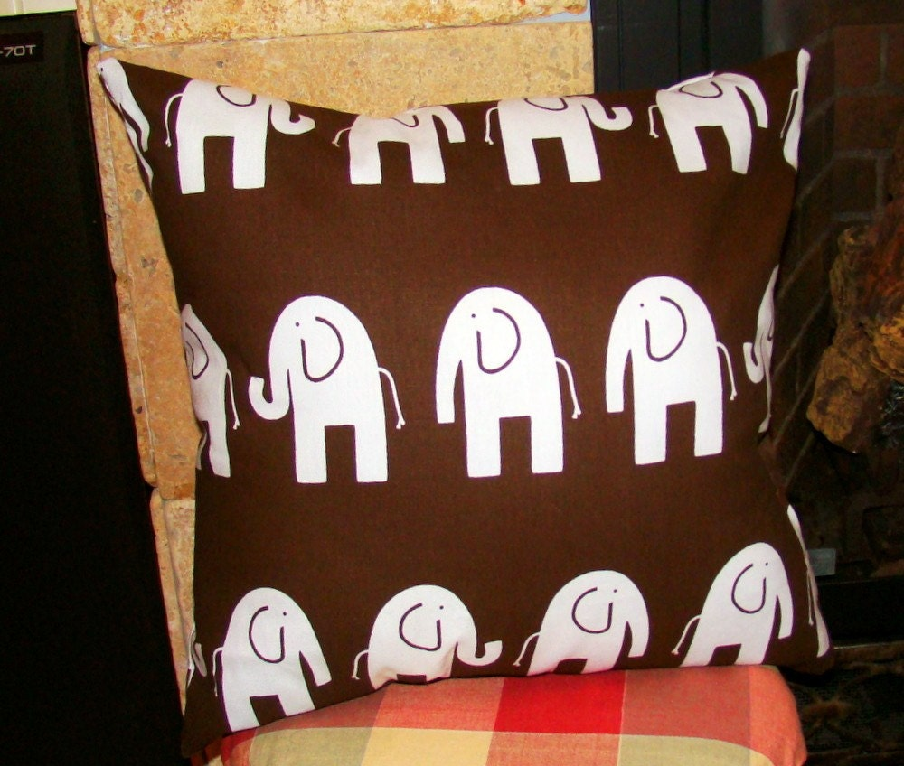 Elephants Village Throw Pillow by mustlovehomedecor on Etsy