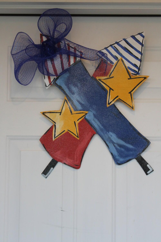 4th Of July Wooden Door Hangers